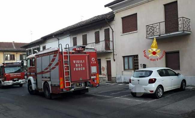 VIGILI DEL FUOCO INCENDIO SANGERMANO