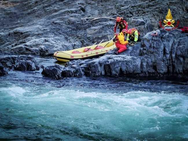 vigili del fuoco esercitazione fiume vocca