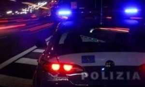polizia auto stradale notte