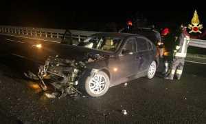 vigili del fuoco incidente autostrada